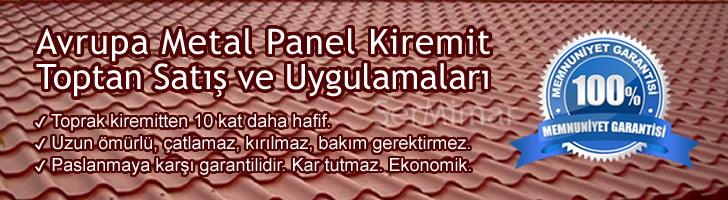 Kiremit Desenli Renkli Çelik Sac Panel Fiyatları